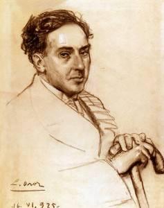 El poeta, retratado por Leandro Oroz / Wikipedia