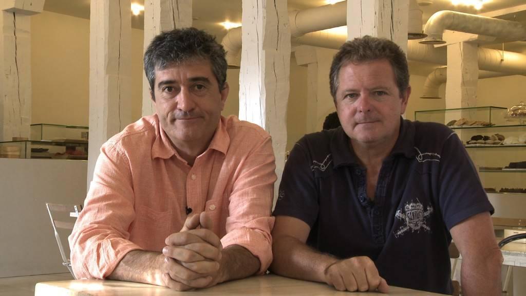 Fesser, junto a Juan Luis Cano, su eterno compañero en la radio.