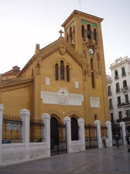 Iglesia Católica en el centro de Tetuán. Marruecos
