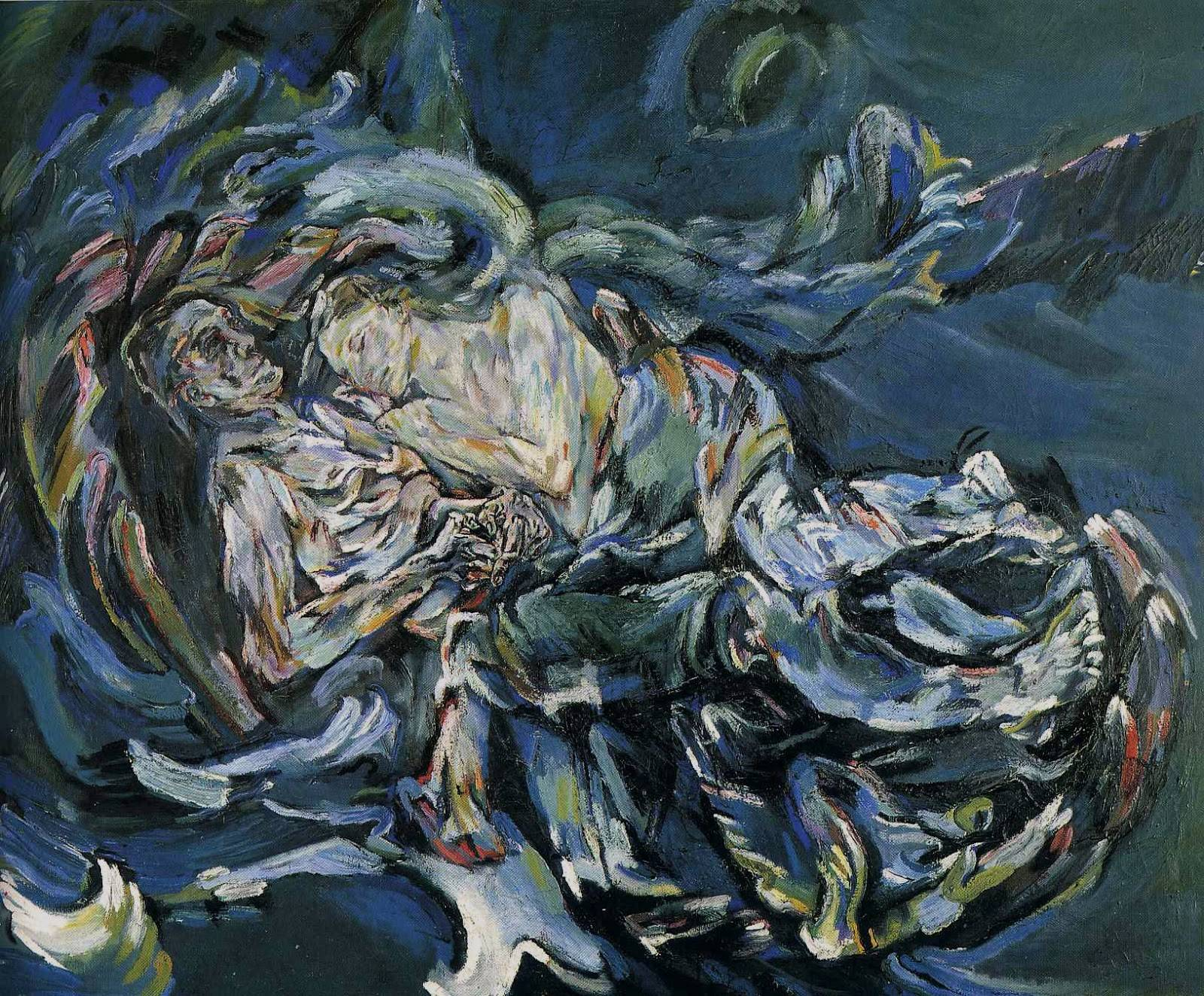 La novia del viento (The bride of the wind, Oskar Kokoschka, 1913-14)