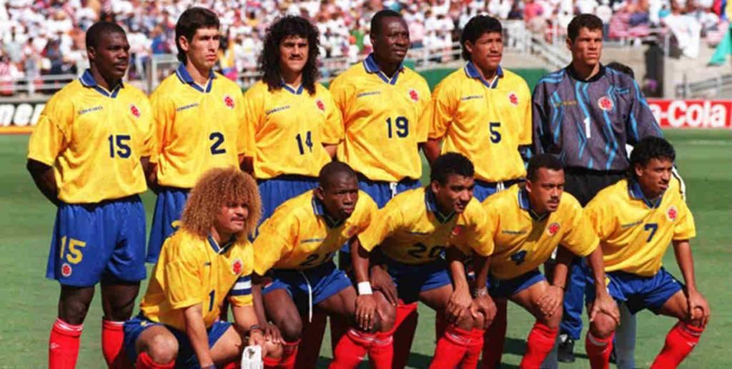 Selección de Colombia en el Mundial de EEUU de 1994.