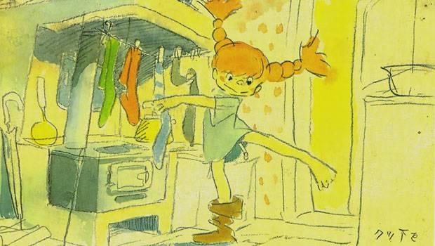 Una ilustración del fallido proyecto de Miyazaki de hacer un anime con las aventuras de Pippi