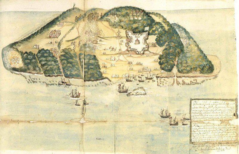 Ilustración de la Isla Tortuga del S.XVII