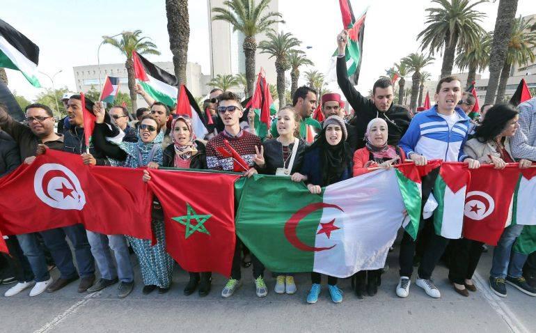 Manifestación en Túnez contra el terrorismo