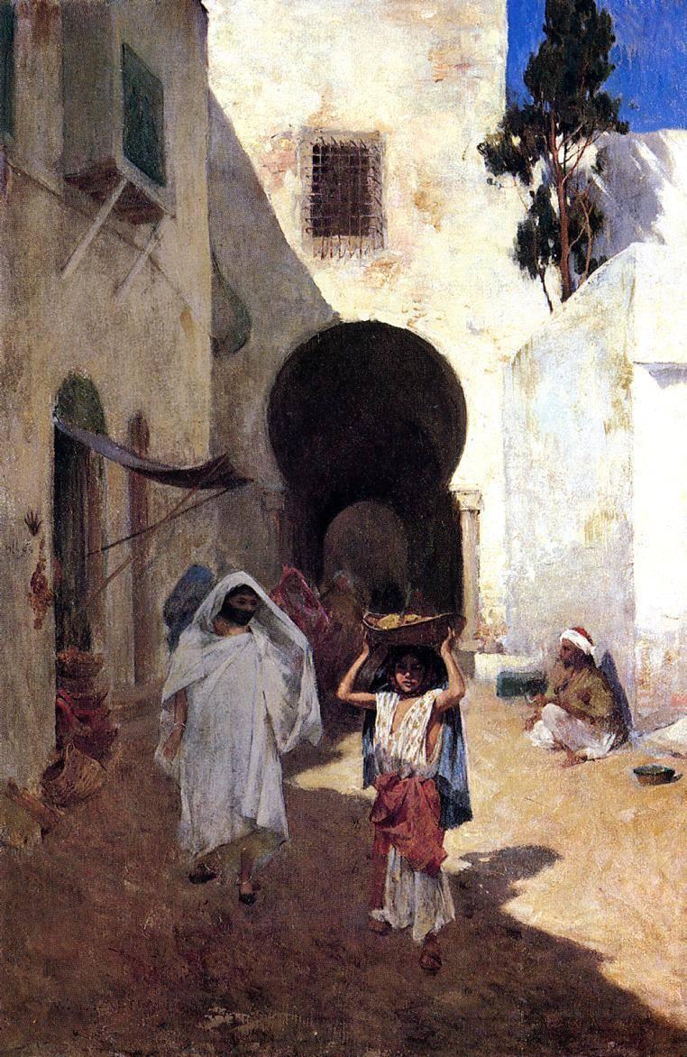 Willard_Leroy_Metcalf_Street_Scene_Tangiers