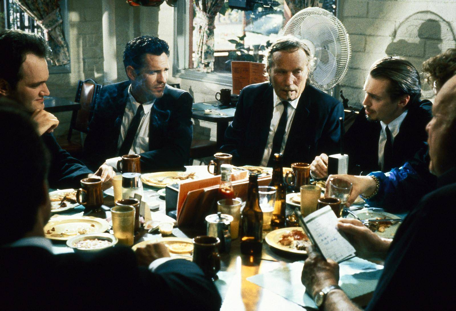 still-of-steve-buscemi,-quentin-tarantino,-michael-madsen-and-edward-bunker-in-de-hänsynslösa-(1992)