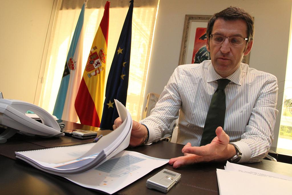 Alberto Nuñez Feijoo presidente de la Xunta de Galicia